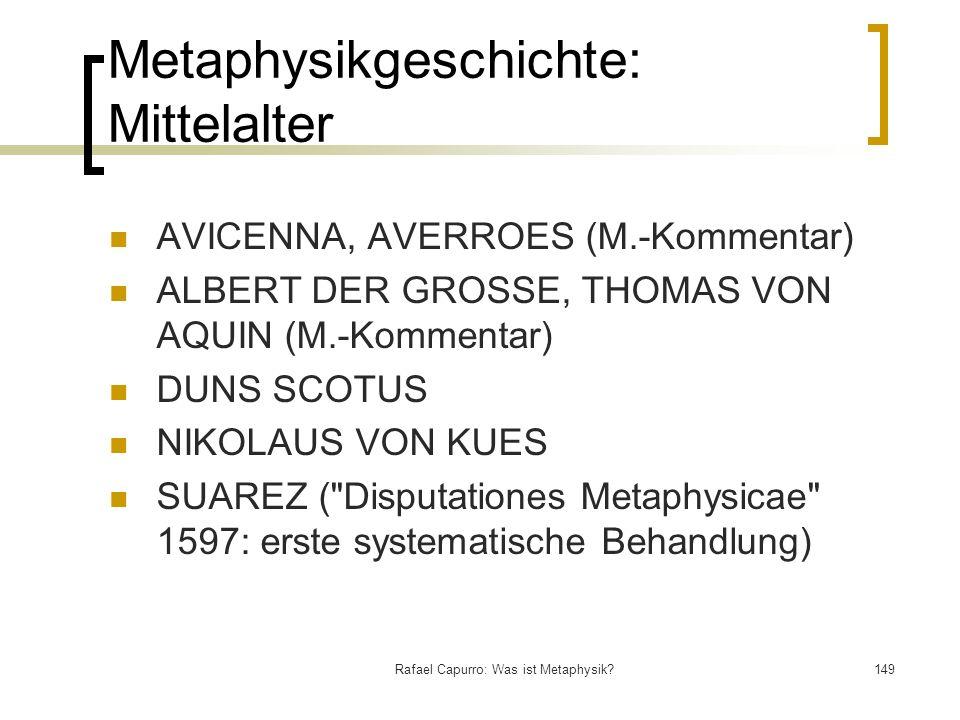 Metaphysikgeschichte: Mittelalter