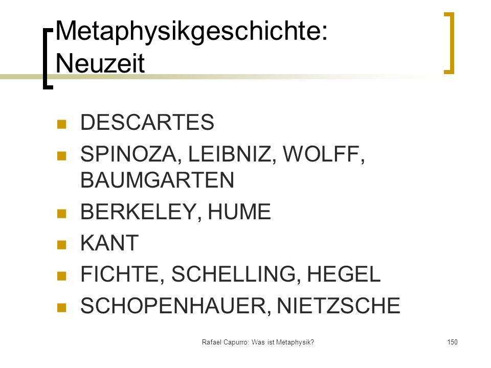 Metaphysikgeschichte: Neuzeit