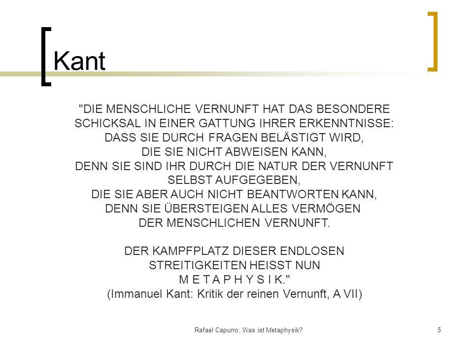 Kant DIE MENSCHLICHE VERNUNFT HAT DAS BESONDERE
