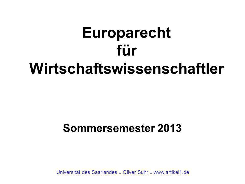 Europarecht für Wirtschaftswissenschaftler