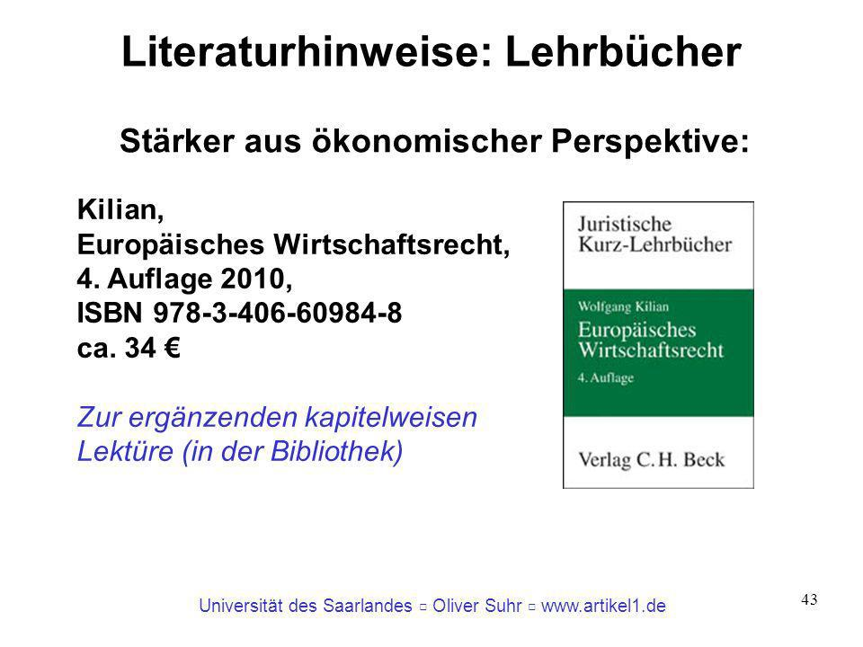 Literaturhinweise: Lehrbücher