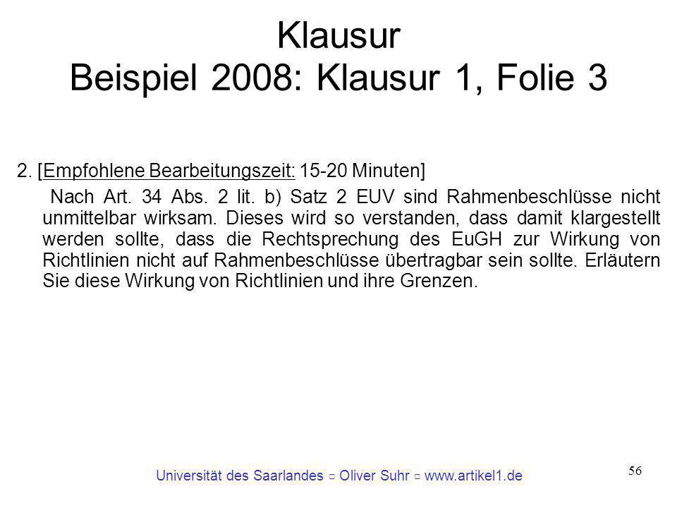 Klausur Beispiel 2008: Klausur 1, Folie 3