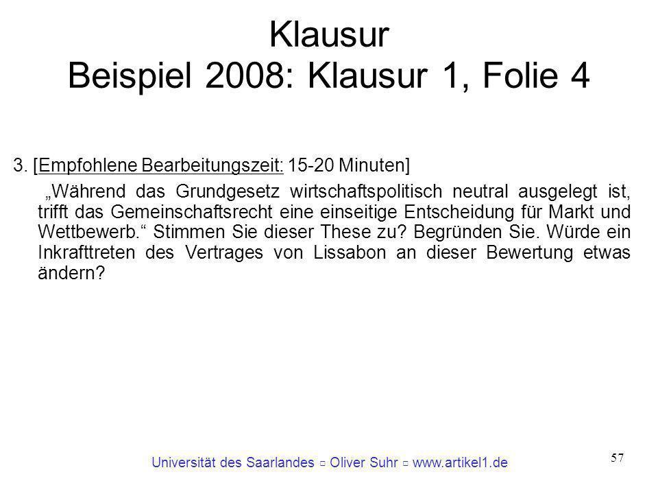 Klausur Beispiel 2008: Klausur 1, Folie 4