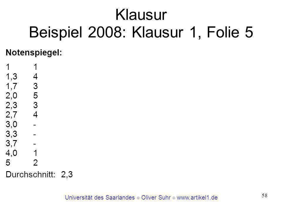 Klausur Beispiel 2008: Klausur 1, Folie 5