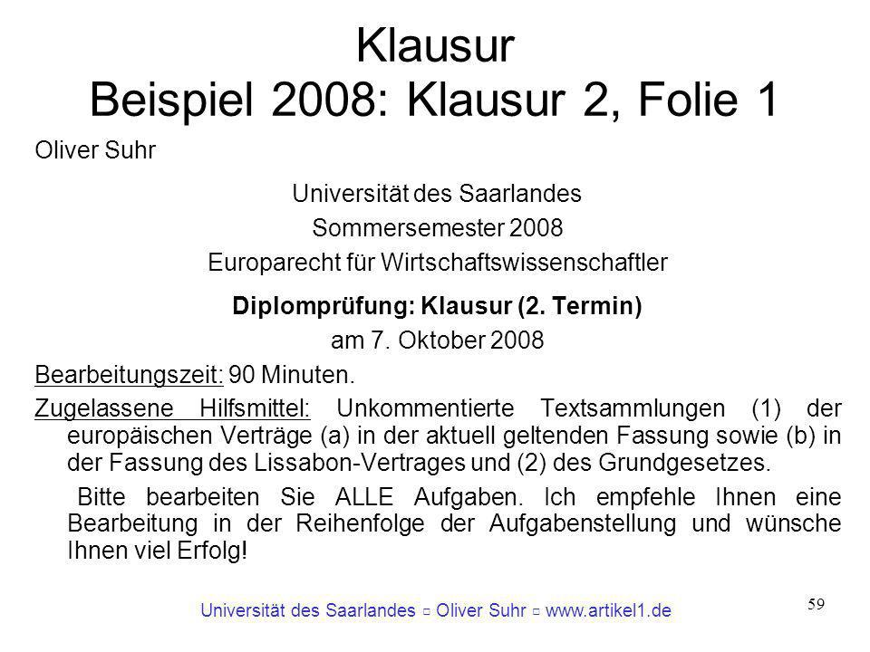 Klausur Beispiel 2008: Klausur 2, Folie 1