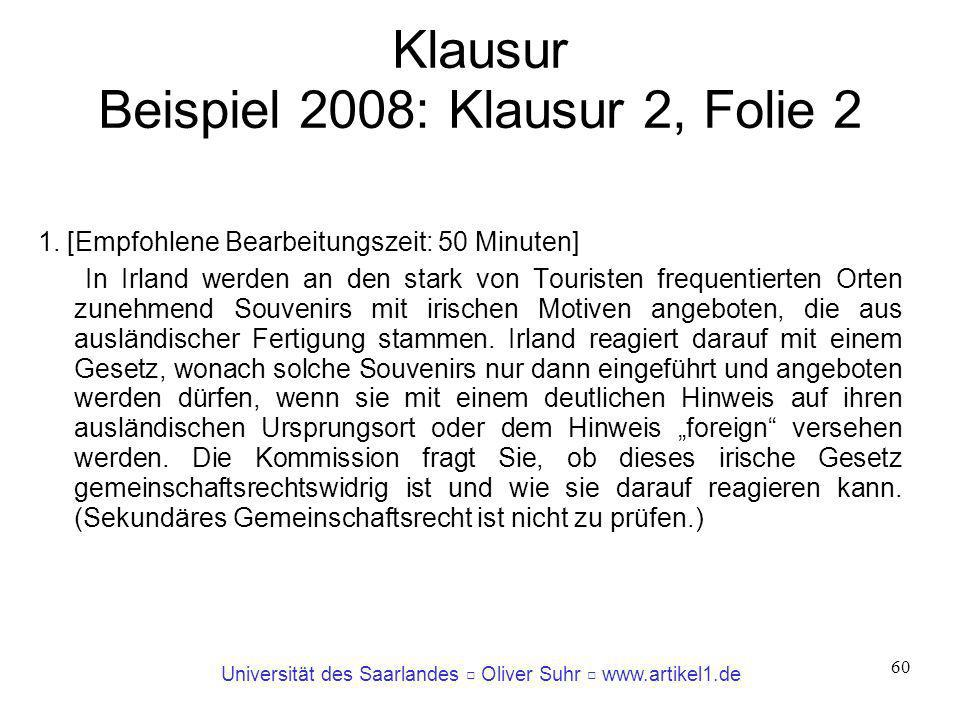 Klausur Beispiel 2008: Klausur 2, Folie 2