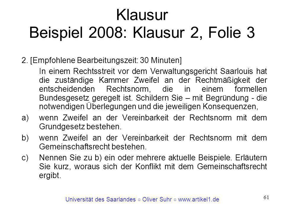 Klausur Beispiel 2008: Klausur 2, Folie 3