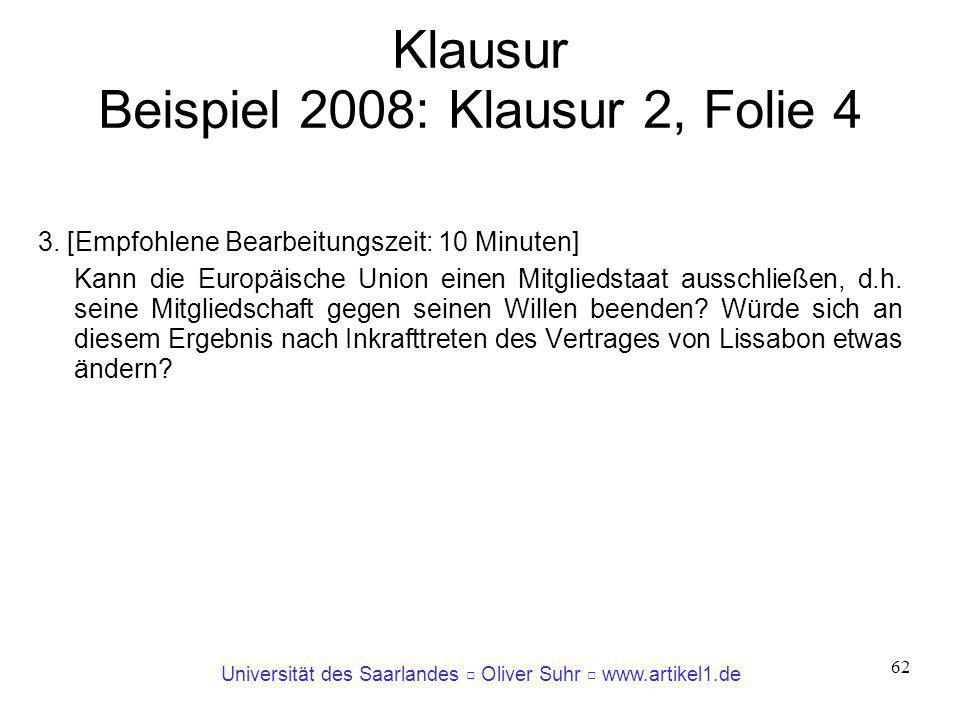Klausur Beispiel 2008: Klausur 2, Folie 4
