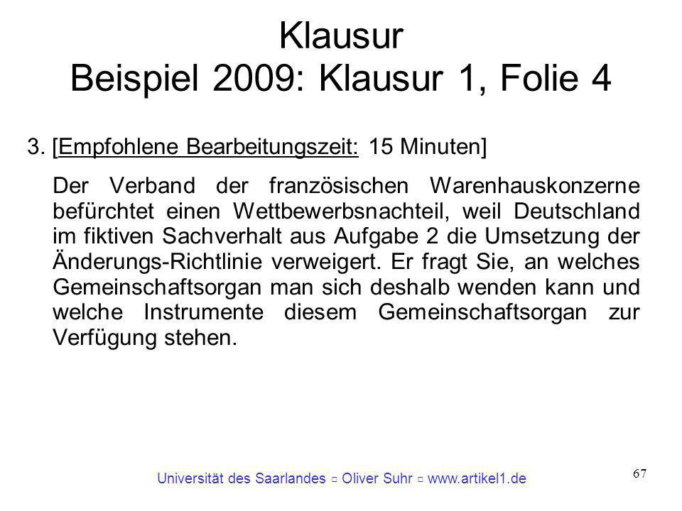 Klausur Beispiel 2009: Klausur 1, Folie 4