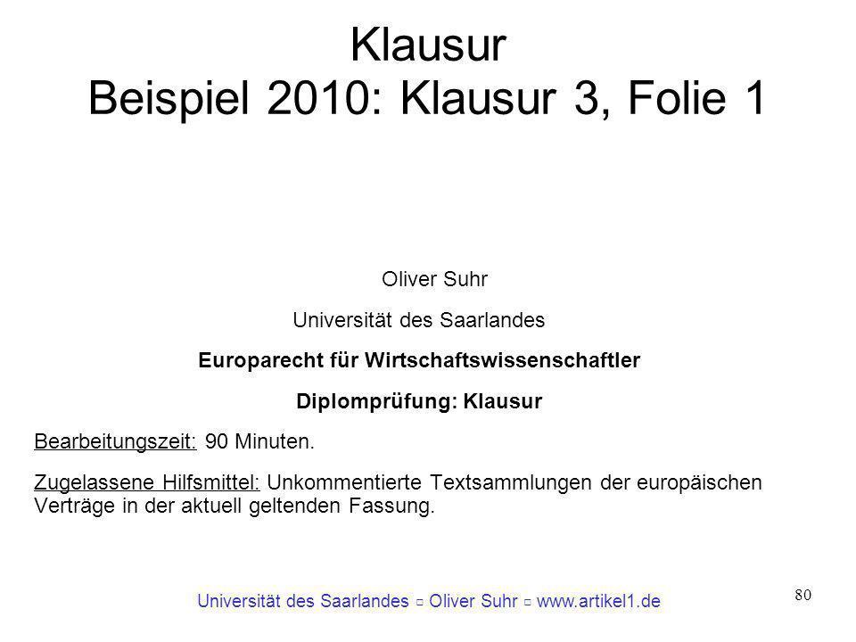 Klausur Beispiel 2010: Klausur 3, Folie 1