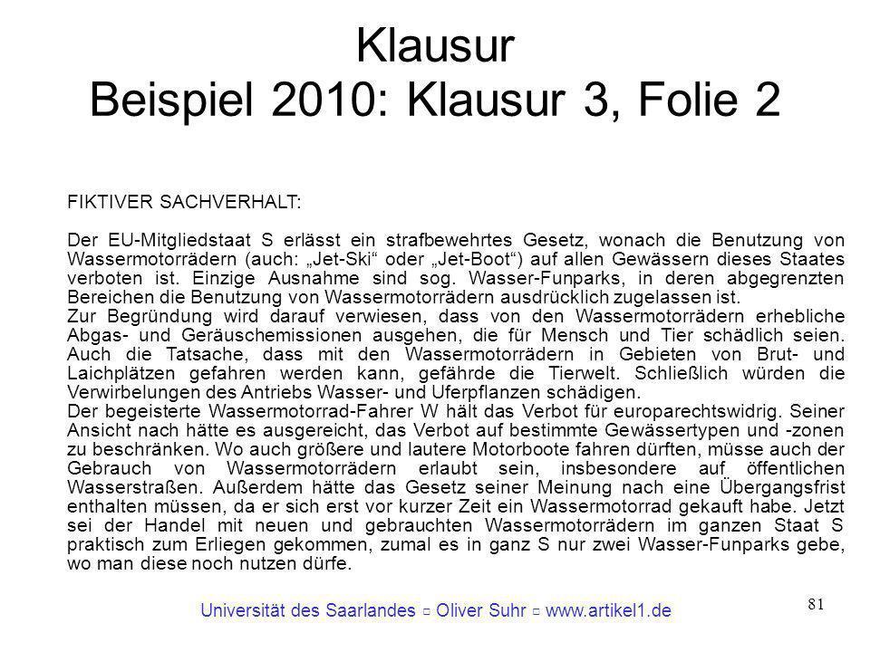 Klausur Beispiel 2010: Klausur 3, Folie 2