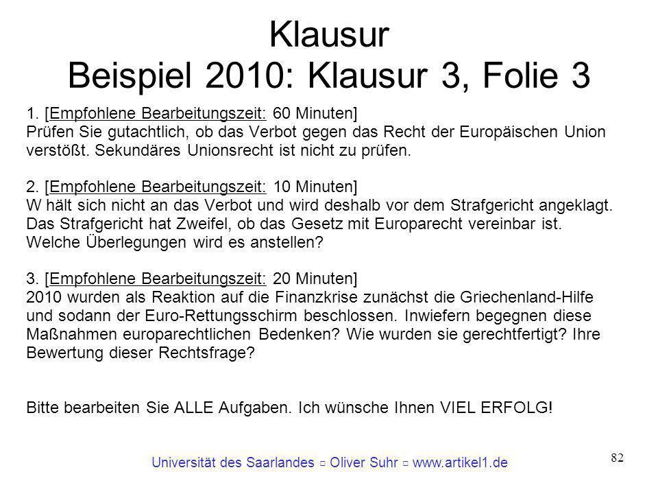 Klausur Beispiel 2010: Klausur 3, Folie 3