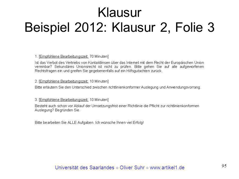 Klausur Beispiel 2012: Klausur 2, Folie 3