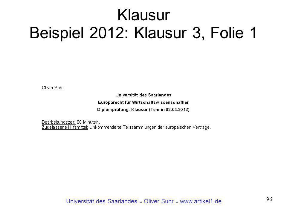 Klausur Beispiel 2012: Klausur 3, Folie 1