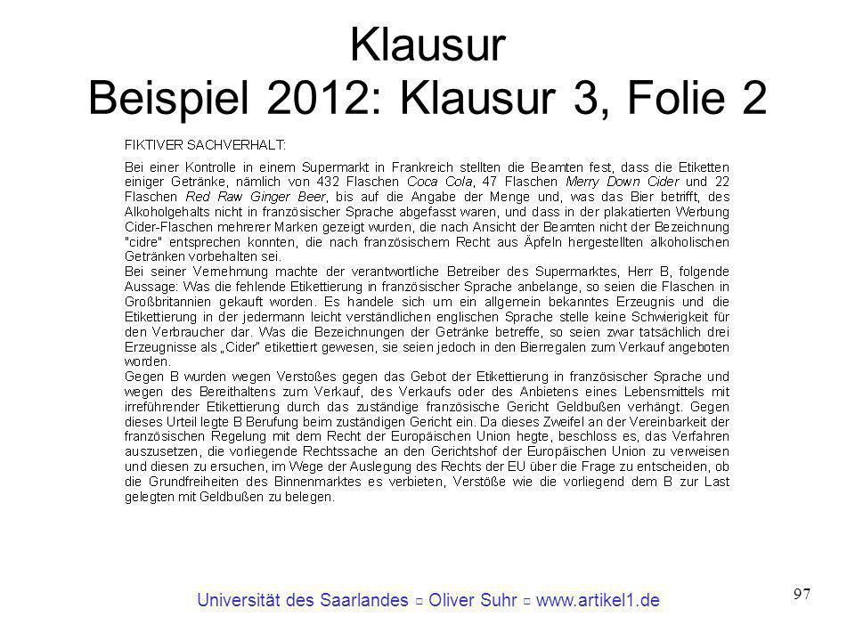 Klausur Beispiel 2012: Klausur 3, Folie 2