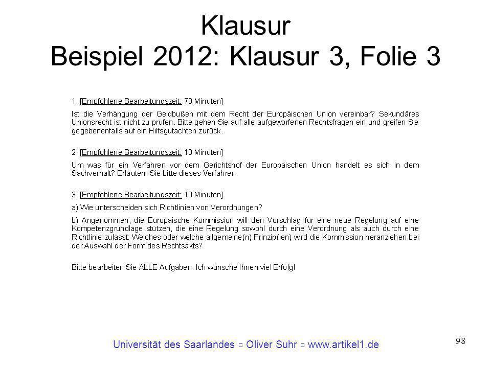 Klausur Beispiel 2012: Klausur 3, Folie 3