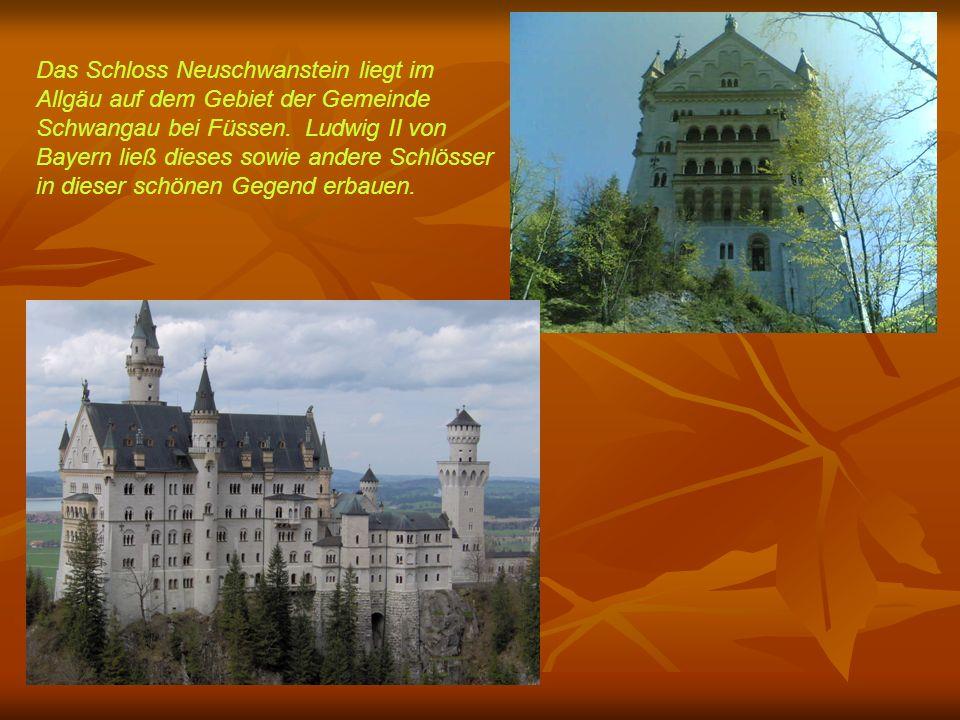 Das Schloss Neuschwanstein liegt im