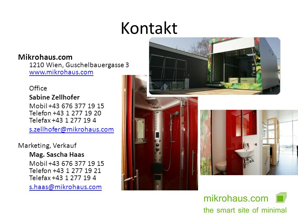 Kontakt Mikrohaus.com 1210 Wien, Guschelbauergasse 3 www.mikrohaus.com