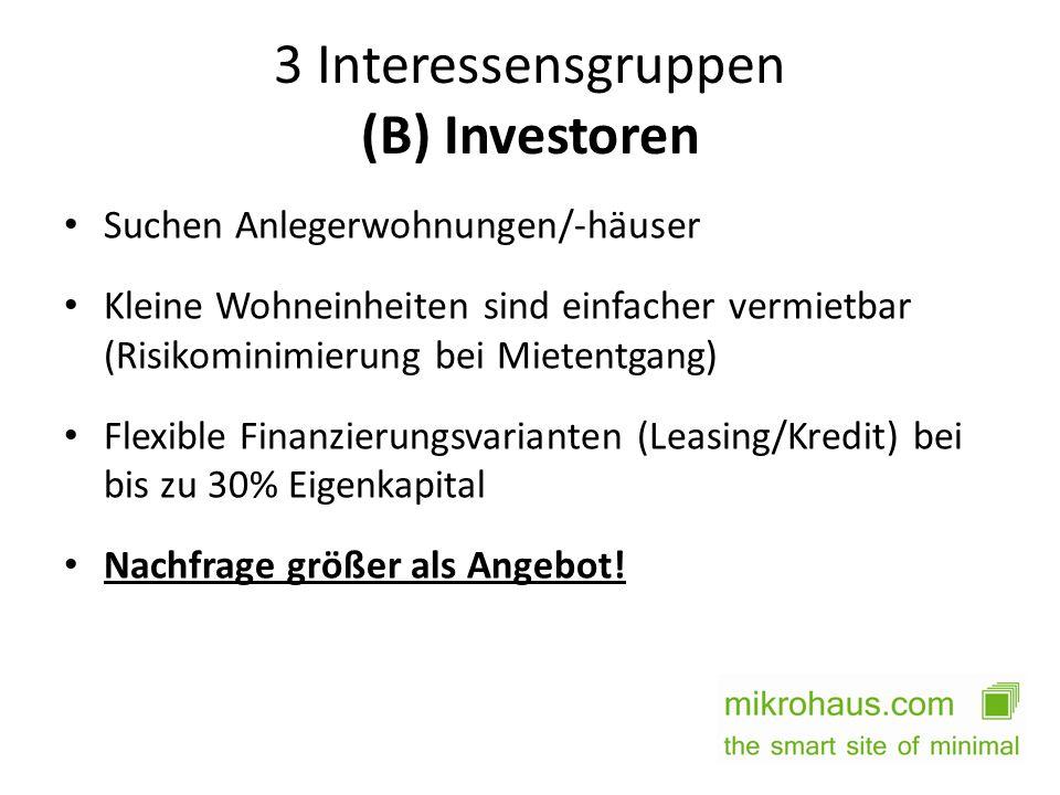 3 Interessensgruppen (B) Investoren