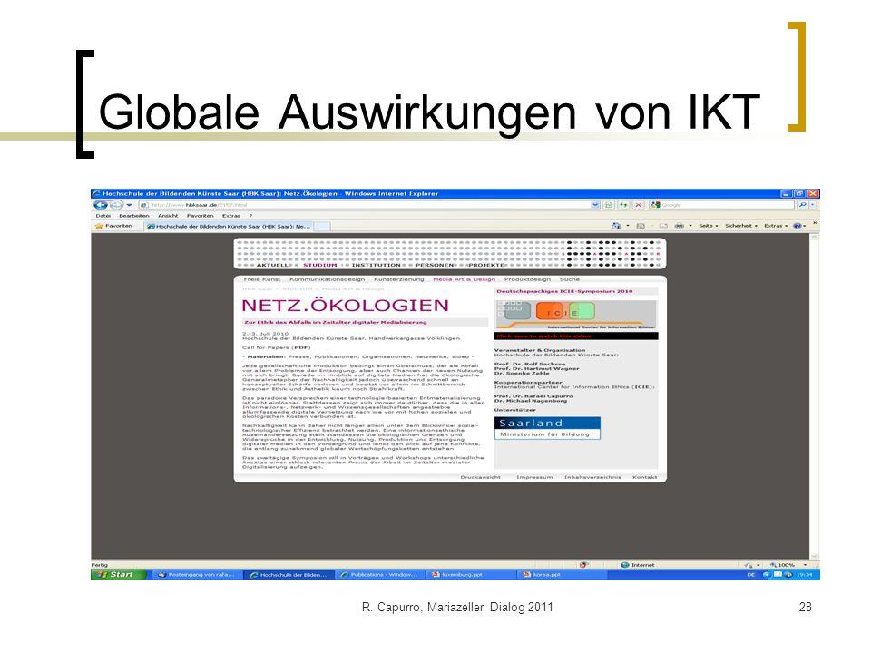 Globale Auswirkungen von IKT
