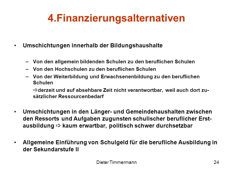4.Finanzierungsalternativen