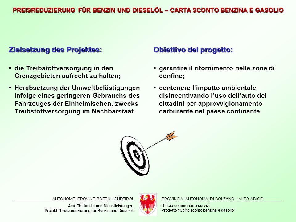 Zielsetzung des Projektes: Obiettivo del progetto: