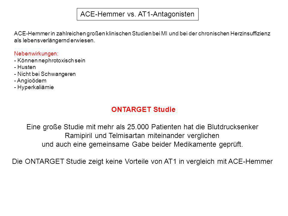 ACE-Hemmer vs. AT1-Antagonisten