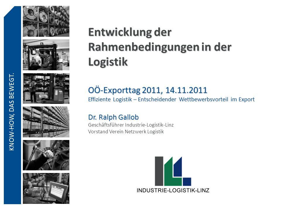 Entwicklung der Rahmenbedingungen in der Logistik