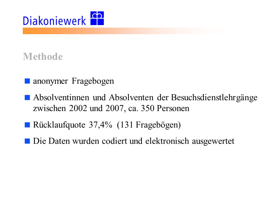Methode anonymer Fragebogen