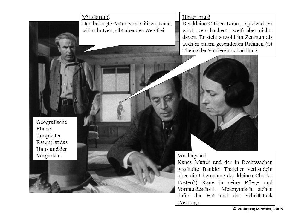 Mittelgrund Der besorgte Vater von Citizen Kane; will schützen, gibt aber den Weg frei. Hintergrund.
