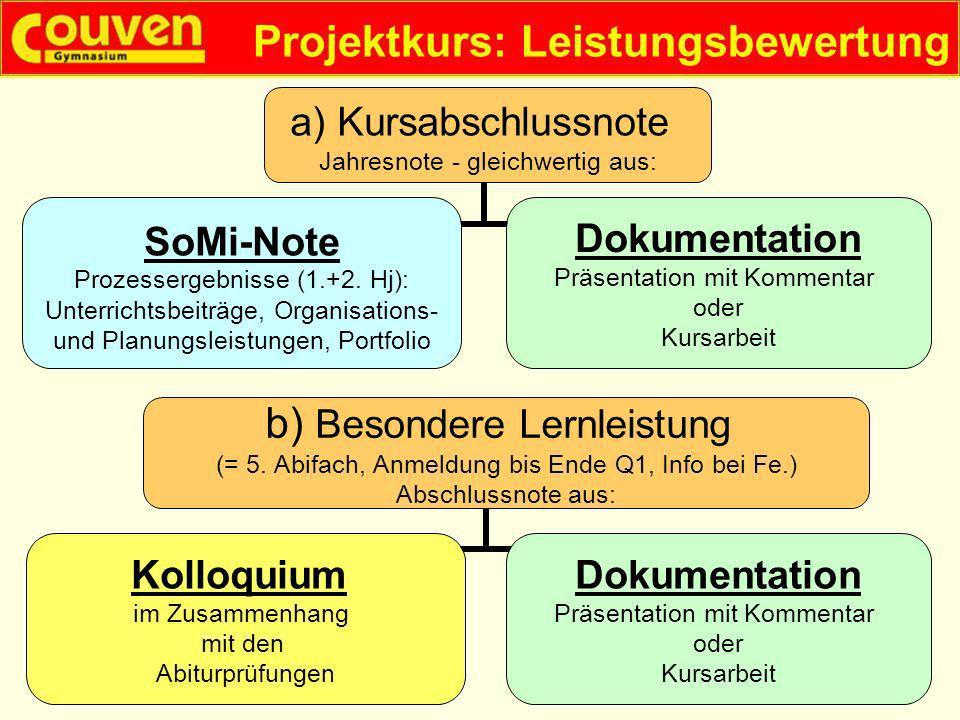 Projektkurs: Leistungsbewertung