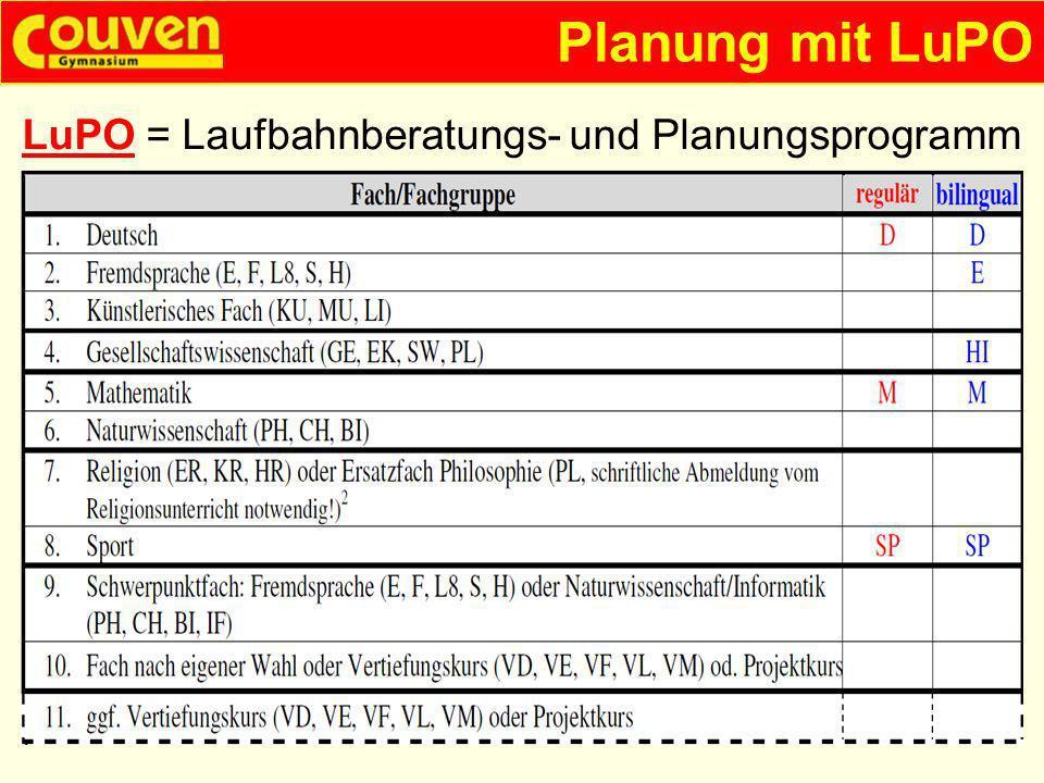 LuPO = Laufbahnberatungs- und Planungsprogramm