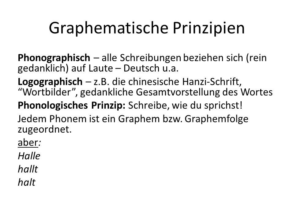Graphematische Prinzipien