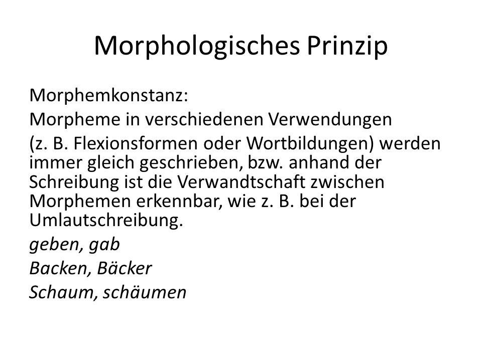 Morphologisches Prinzip