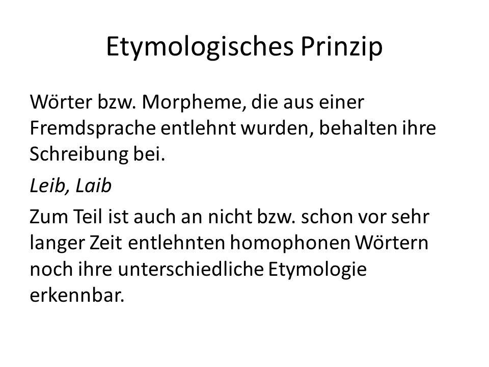 Etymologisches Prinzip