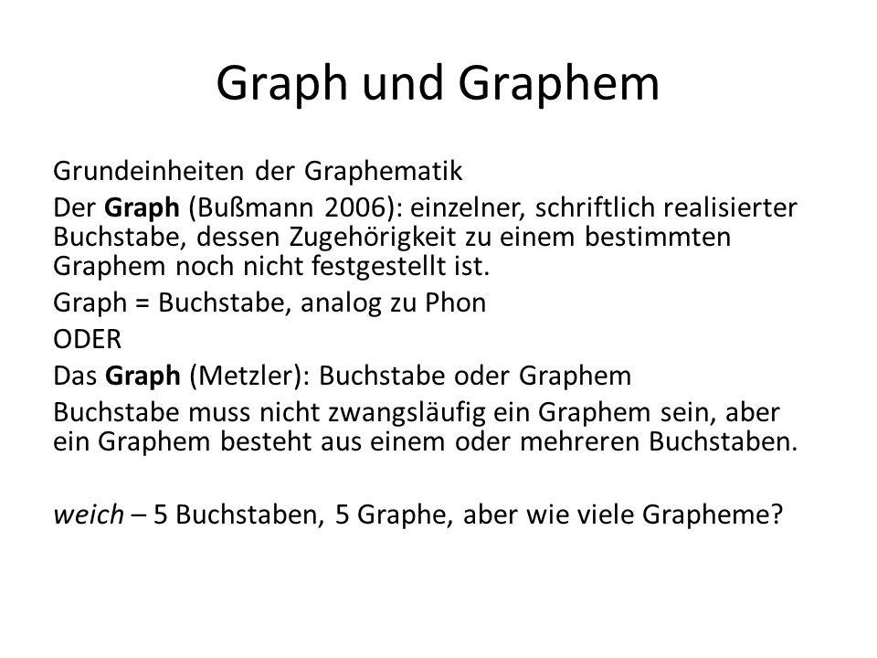 Graph und Graphem