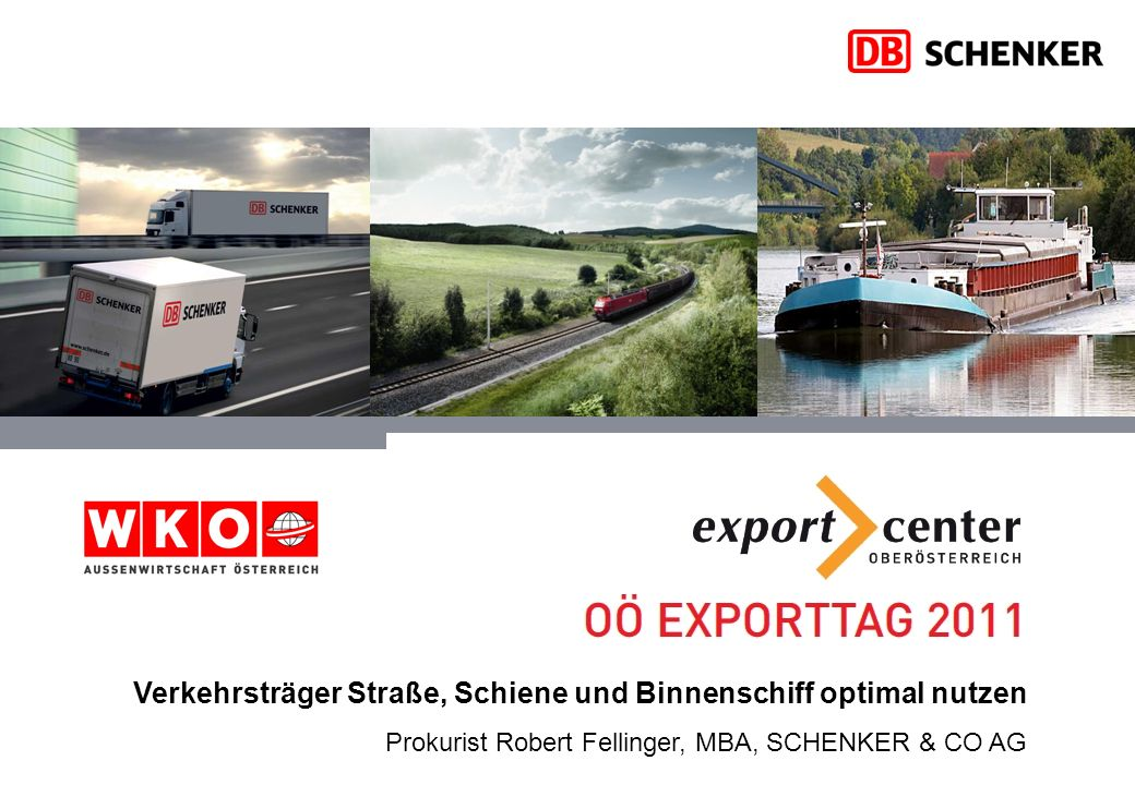 Verkehrsträger Straße, Schiene und Binnenschiff optimal nutzen