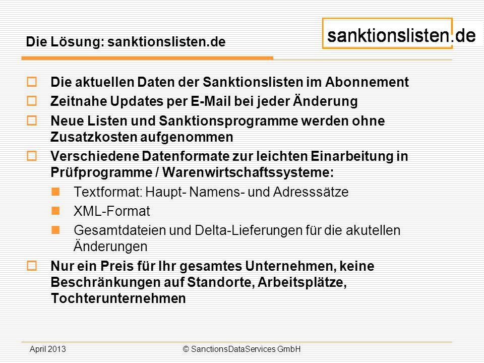 Die Lösung: sanktionslisten.de