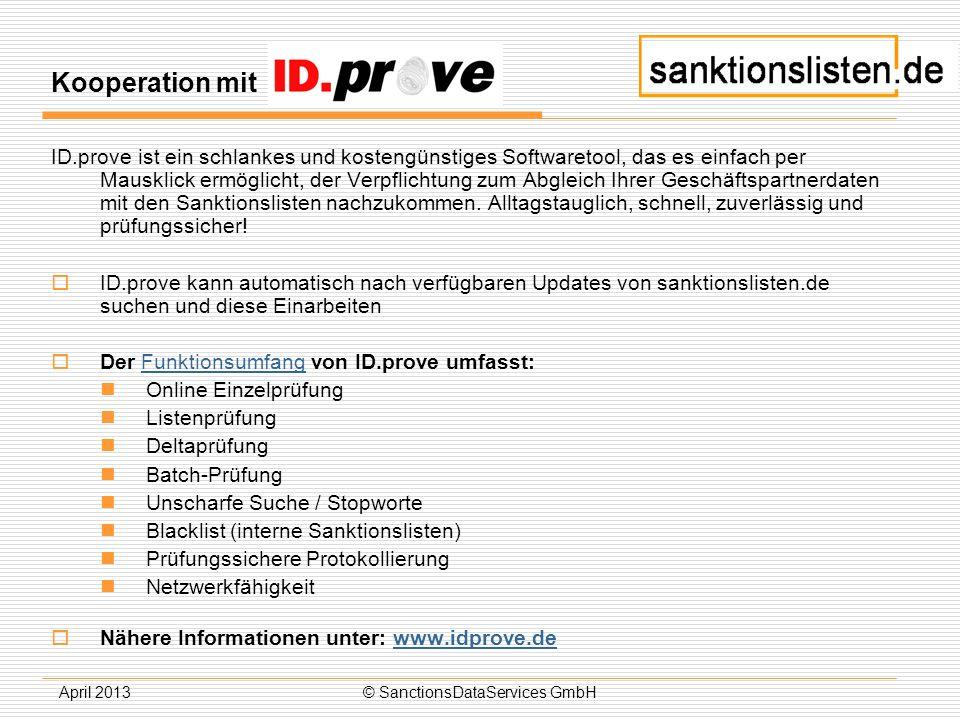 © SanctionsDataServices GmbH