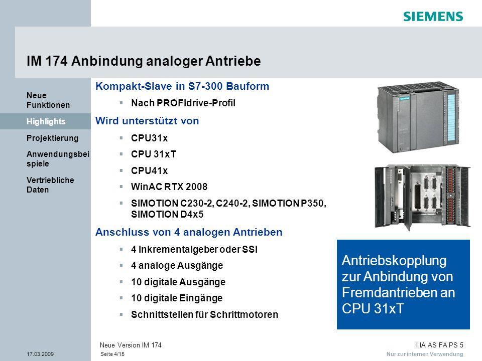 IM 174 Anbindung analoger Antriebe