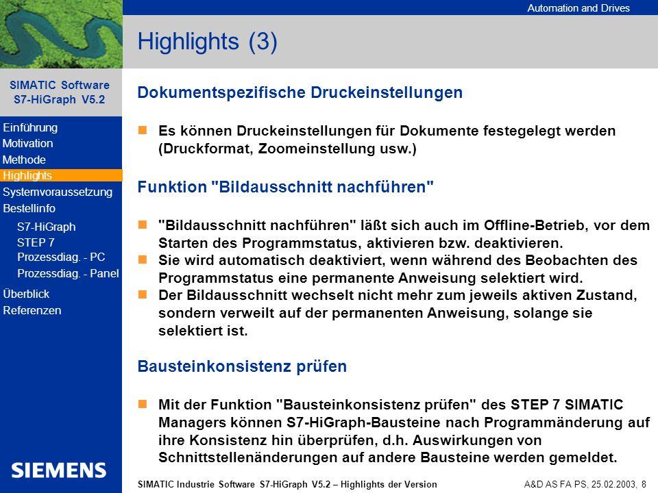 Highlights (3) Dokumentspezifische Druckeinstellungen