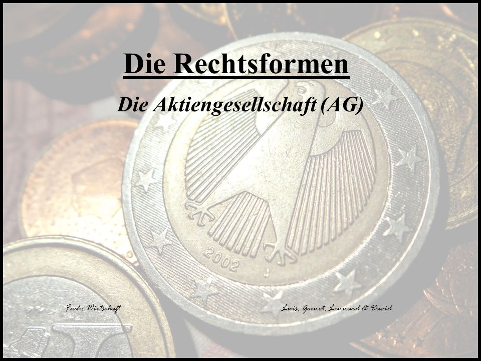 Die Aktiengesellschaft (AG)