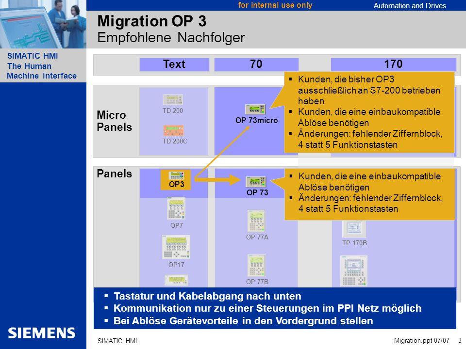 Migration OP 3 Empfohlene Nachfolger