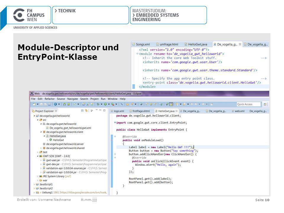 Module-Descriptor und EntryPoint-Klasse