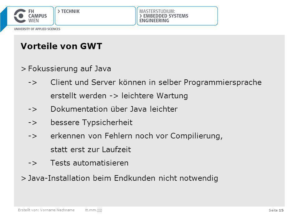 Vorteile von GWT