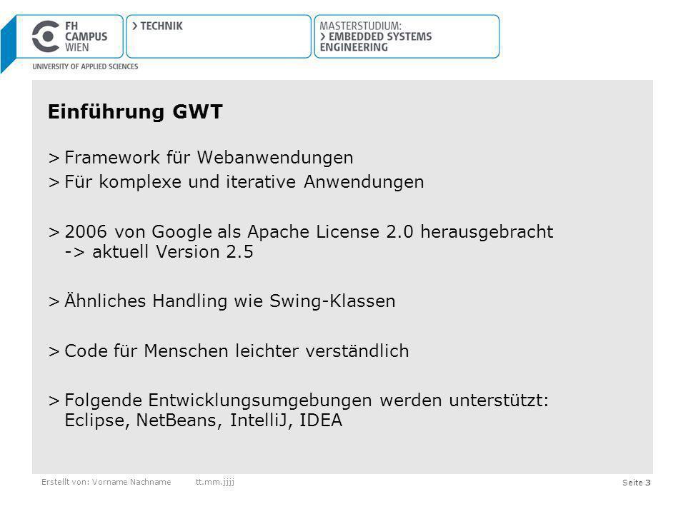 Einführung GWT Framework für Webanwendungen