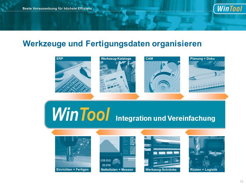 WinTool Integration und Vereinfachung 11