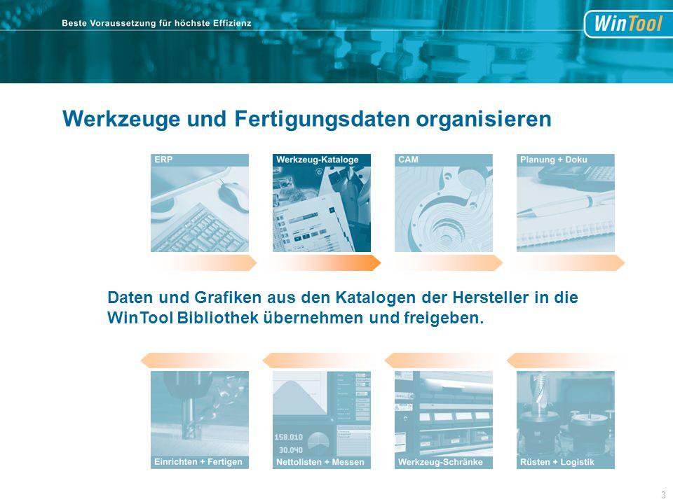 Daten und Grafiken aus den Katalogen der Hersteller in die WinTool Bibliothek übernehmen und freigeben.