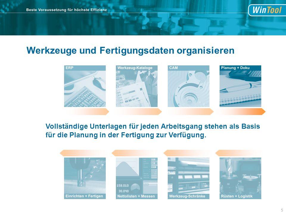 Vollständige Unterlagen für jeden Arbeitsgang stehen als Basis für die Planung in der Fertigung zur Verfügung.