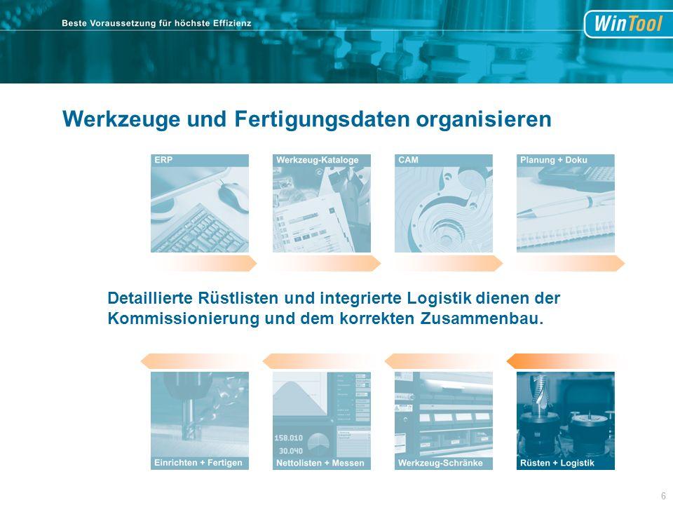 Detaillierte Rüstlisten und integrierte Logistik dienen der Kommissionierung und dem korrekten Zusammenbau.